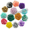 Gemstone Beads, Carved camellia, Mixed plain colors, Approx 8x6mm, Hole: Approx 0.8mm, 100pcs per bag, Sold by bags