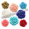 Gemstone Beads, Carved camellia, Mixed plain colors, Approx 16x8mm, Hole: Approx 1mm, 100pcs per bag, Sold by bags