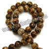 Gemstone Beads, Leopard skin agate, Smooth round, Approx 8mm, Hole: Approx 1mm, 49pcs per strand, Sold by strands