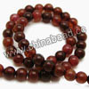 Gemstone Beads, Crackle agate, Dark red, Smooth round, Approx 8mm, Hole: Approx 1.2mm, 49pcs per strand, Sold by strands