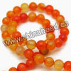 Gemstone Beads, Crackle agate, Orange red, Smooth round, Approx 10mm, Hole: Approx 1.2mm, 39pcs per strand, Sold by strands