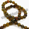 Gemstone Beads, Crackle agate, Dark yellow, Smooth round, Approx 8mm, Hole: Approx 1.2mm, 49pcs per strand, Sold by strands