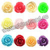 Resin Beads, Rose flower, Mixed colors, Approx 8x6mm, Hole: no hole, 100pcs per bag, Sold by bags