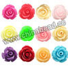 Resin Beads, Rose flower, Mixed colors, Approx 10x7mm, Hole: no hole, 100pcs per bag, Sold by bags