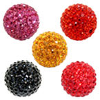 18mm Round Clay Pave Bead