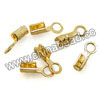 Jewelry findings, Brass cord tip in gold plating, Approx 7x2mm, Lead and cadmium free, Hole: Approx 1.8mm,1000pcs per bag, Sold by bags