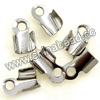 Jewelry findings, Iron cord tip in platinum plating, Approx 6x3mm, Lead and cadmium free, Hole: Approx 1mm, 2000pcs per bag, Sold by bags