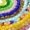 Cat eye glass beads, Assorted colors, Heart linked to heart, Approx 8x8x11mm, Hole: Approx 1mm, 68pcs per strand, Sold by strands