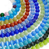 Cat eye glass beads, Assorted colors, Smooth round, Approx 5mm, Hole: Approx 0.8mm, 80pcs per strand, Sold by strands