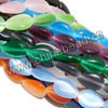 Cat eye glass beads, Assorted colors, Smooth flat teardrop, Approx 13x18x5mm, Hole: Approx 1mm, 22pcs per strand, Sold by strands