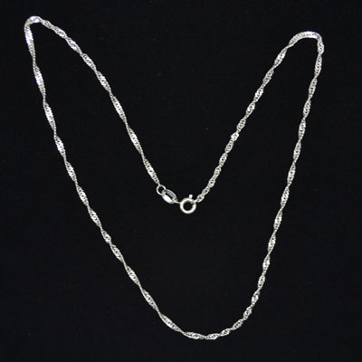Plain Sterling Silver Necklace