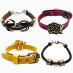 Zinc Alloy Leather Cord Bracelets