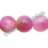 Gemstone beads, Fancy Persian jade, Hot pink and yellow, Smooth round, Approx 6mm, Hole: Approx 1.5mm, 66 pieces per strand, Sold by strands