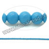 Gemstone beads, Dyed blue American turquoise, Smooth round, Approx 3mm, Hole: Approx 0.8mm, Approx 120 pieces per strand, Sold by strands