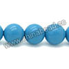 Gemstone beads, Dyed blue American turquoise, Smooth round, Approx 8mm, Hole: Approx 0.8mm, Approx 50 pieces per strand, Sold by strands