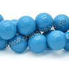 Gemstone beads, Dyed blue American turquoise, Smooth round, Approx 10mm, Hole: Approx 0.8mm, Approx 40 pieces per strand, Sold by strands