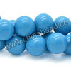 Gemstone beads, Dyed blue American turquoise, Smooth round, Approx 14mm, Hole: Approx 0.8mm, Approx 28 pieces per strand, Sold by strands