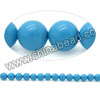 Gemstone beads, Dyed blue American turquoise, Smooth round, Approx 5mm, Hole: Approx 0.8mm, Approx 73 pieces per strand, Sold by strands