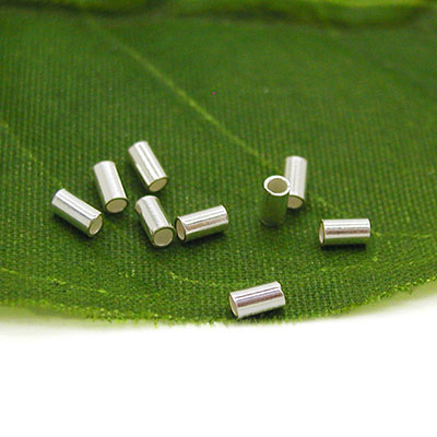 Silver Tube Crimp Beads