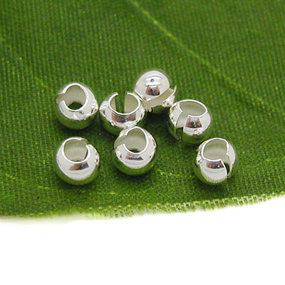 Silver Crimp Bead Covers