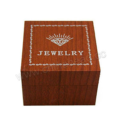 Wooden ring gift boxes, Light brown, Square, Approx 50x50x35mm, 20 pieces per bag, Sold by bags