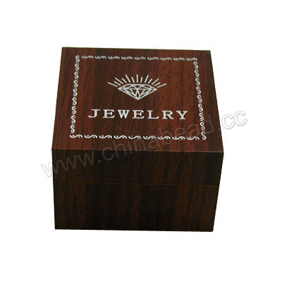 Wooden ring gift boxes, Dark brown, Square, Approx 50x50x35mm, 20 pieces per bag, Sold by bags