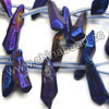 Gemstone beads, Clear quartz with purple plating, Smooth bar, Approx 15-28 x 3-7mm, Hole: Approx 0.8mm, Approx 25 pieces per strand, Sold by strands