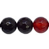 Gemstone beads, Red agate, Faceted round, Approx 6mm, Hole: Approx 0.8mm, 64pieces per strand, Sold by strands