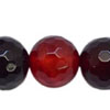 Gemstone beads, Red agate, Faceted round, Approx 8mm, Hole: Approx 0.8mm, 48pieces per strand, Sold by strands