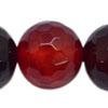 Gemstone beads, Red agate, Faceted round, Approx 10mm, Hole: Approx 1mm, 39 pieces per strand, Sold by strands