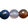 Gemstone beads, Multi-colored agate, Faceted round, Approx 6mm, Hole: Approx 0.8mm, 64 pieces per strand, Sold by strands