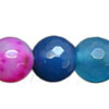 Gemstone beads, Multi-colored agate, Faceted round, Approx 10mm, Hole: Approx 1mm, 39 pieces per strand, Sold by strands