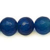 Gemstone beads, Blue agate, Faceted round, Approx 6mm, Hole: Approx 0.8mm, 63 pieces per strand, Sold by strands