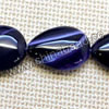 Gemstone beads, Botswana agate, Blue violet with natural veins, Flat puffy teardrop, Approx 25x18mm, Hole: Approx 2mm, 16 pieces per strand, Sold by strands