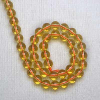 Piezoelectric Citrine Beads