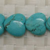 Gemstone Beads, Magnesite, Turquoise blue, Smooth puffy heart, Approx 16x16x5mm, Hole: Approx 1mm, 28 pieces per strand, Sold by strands
