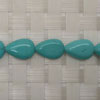Gemstone Beads, Magnesite, Turquoise blue, Smooth puffy flat teardrop, Approx 12x8x4mm, Hole: Approx 1mm, 33 pieces per strand, Sold by strands