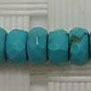 Gemstone Beads, Magnesite, Turquoise blue, Faceted rondelle, Approx 2x4mm, Hole: Approx 1mm, 183 pieces per strand, Sold by strands