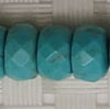 Gemstone Beads, Magnesite, Turquoise blue, Faceted rondelle, Approx 5x8mm, Hole: Approx 1mm, 84 pieces per strand, Sold by strands