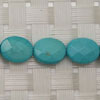 Gemstone Beads, Magnesite, Turquoise blue, Faceted flat oval, Approx 10x8x3mm, Hole: Approx 1mm, 39 pieces per strand, Sold by strands