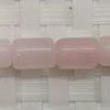 Gemstone rose quartz beads, Smooth tube, Approx 12x8mm, Hole: approx 1mm, 33 pieces per strand, Sold by strands