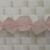 Gemstone rose quartz beads, Cube, Approx 10x10x10mm, Corner drilled hole: approx 1mm, 31 pieces per strand, Sold by strands