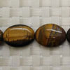 Gemstone brown tigereye beads, Smooth flat oval, Approx 22x16x6mm, Hole: approx 1mm, 18 pieces per strand, Sold by strands