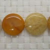 Gemstone yellow jade beads, Smooth disc, Approx 25x6mm, Hole: Approx 1mm, 16 pieces per strand, Sold by strands