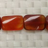 Gemstone red agate beads, Faceted flat rectangle, Approx 22x16x6mm, Hole: Approx 1mm, 18 pieces per strand, Sold by strands