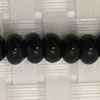 Gemstone black onyx beads, Smooth rondelle, Approx 4x6mm, Hole: Approx 1mm, 98 pieces per strand, Sold by strands