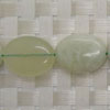 Gemstone new jade beads, Smooth flat oval, Approx 20x16x6mm, Hole: Approx 1mm, 20 pieces per strand, Sold by strands