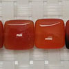 Gemstone red agate beads, Smooth flat square, Approx 15x15x5mm, Hole: Approx 1mm, 26 pieces per strand, Sold by strands