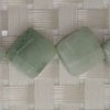 Gemstone jadeite beads, Faceted puffy square, Approx 14x14x5mm, Corner drilled hole: Approx 1mm, 30 pieces per strand, Sold by strands