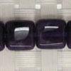 Gemstone dark amethyst beads, Faceted flat square, Approx 10x10x5mm, Hole: Approx 1mm, 39 pieces per strand, Sold by strands